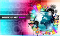 PArty Club Flyer for Music event PArty Club Flyer for Music event with Explosion of colors. with Explosion of colors. Royalty Free Stock Photo