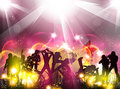 Party color light illustration Stock Images