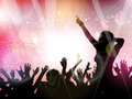 Party crowd background silhouette of a on an abstract Royalty Free Stock Photo