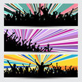 Party crowd banners Stock Photos