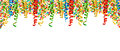 Party decoration border serpentine confetti Holidays background Royalty Free Stock Photo