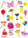 Party design elements - vector Royalty Free Stock Photography