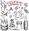 Party drawings collection 1 Royalty Free Stock Photos
