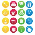 Party element icon set the Stock Photo