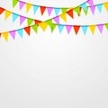 Party flags celebrate bright abstract background