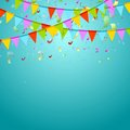 Party flags colorful celebrate abstract background Royalty Free Stock Photo