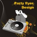 Party flyer design Royalty Free Stock Photos