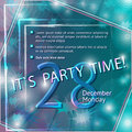 Party Flyer Template. Vector Design. Abstract Royalty Free Stock Photo