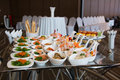 Party food served on silver platter Royalty Free Stock Photo