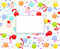 Party frame with balloons and confetti Stock Image
