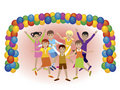 Party with friends Royalty Free Stock Images