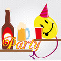 Party funy design over dotted background vector illustration Stock Photo