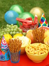Party in garden Royalty Free Stock Images