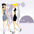 Party girls 3 Royalty Free Stock Images