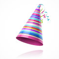 Party hat illustration on white Royalty Free Stock Photography