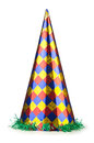 Party hat isolated on white Royalty Free Stock Images