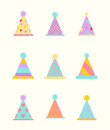 Party hat set on a white.