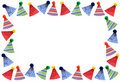 Party hats frame Stock Photo