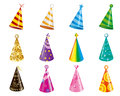 Party hats vector of christmas Stock Photo