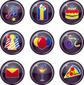 Party Icon Buttons Royalty Free Stock Photo