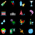 Party icon set series Royalty Free Stock Photo