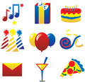 Party Icons 2 Stock Photos