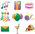 Party Icons 3 Stock Photography