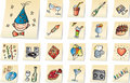 Party icons Royalty Free Stock Photography