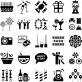 Party icons this is a collection of Royalty Free Stock Photo