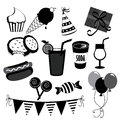 Party icons over white background vector illustration Royalty Free Stock Image