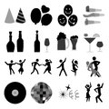 Party icons over white background vector illustration Stock Photography