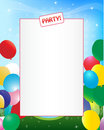 Party invitation background Royalty Free Stock Photography