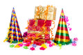 Party items on the white Royalty Free Stock Images