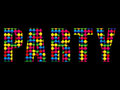 Party Letters Music Disco Colorful Alphabet Royalty Free Stock Images