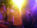 Party light in pub dance colorful young people are dancing their way Stock Photography