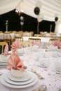 Party marquee interior Stock Photography