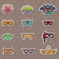 Party mask stickers Royalty Free Stock Photography