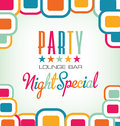 Party modern invitation card colorful Royalty Free Stock Photography
