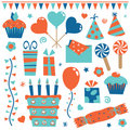 Party objects Royalty Free Stock Image