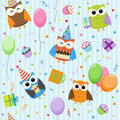 Party owls Royalty Free Stock Images