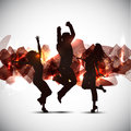 Party people background Royalty Free Stock Images