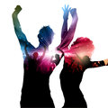 Party people background with decorative design Royalty Free Stock Image