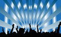 Party people dancing vector illustration of the Royalty Free Stock Images