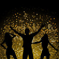 Party people and mosaic background Royalty Free Stock Image
