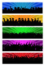 Party people web headers banners and backgrounds Royalty Free Stock Images