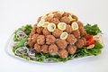 Party platter with meatballs catering food Stock Images
