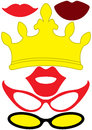Party queen accessories set - glasses, crown, lips