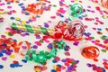 Party Scene with Confetti Stock Images