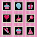 Party stamps Stock Images