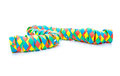Party streamer all on white background Royalty Free Stock Images
